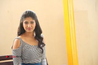 Telugu Actress Roshini Prakash Stills Short Dress at Saptagiri Express Release Press Meet  0277.JPG