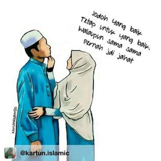 kartun pasangan muslim dan muslimah