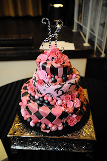 hot pink wedding cake ideas morgann hill designs black amp pink wedding cake of the 15341