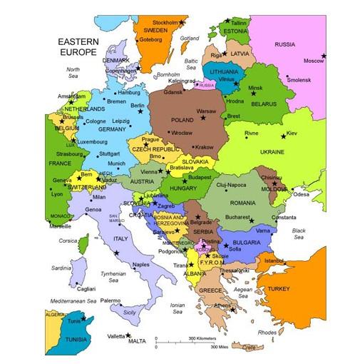Carte Europe De Lest.Carte De L Europe Regional Departement
