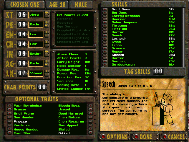 Best Fallout 2 Character Build