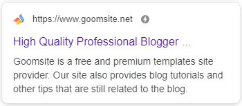 Goomsite Pro AMP Responsive Business Services Landing Page Blogger Template Theme