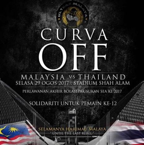 Ultras Malaya Tutup Curva Sebagai Solidariti Kepada Penyokong Yang Tak Dapat Tiket Ke Stadium