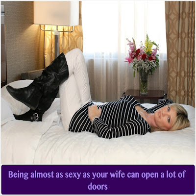 Opening doors - Sissy TG Caption