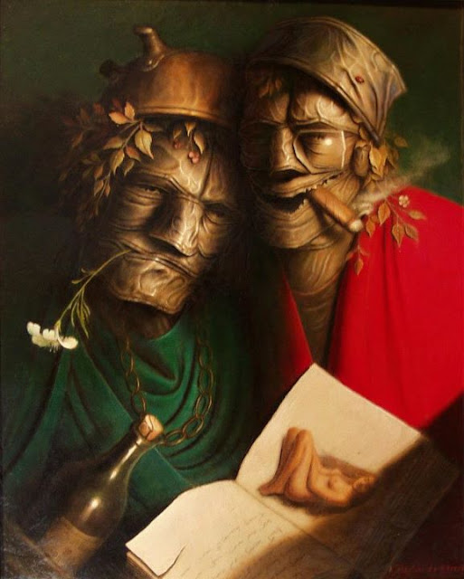 "French Realism Painter- ""André Martins de barros"" 1942"