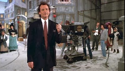 "Bill Murray produces a live broadcast of ""A Christmas Carol"" in ""Scrooged"""