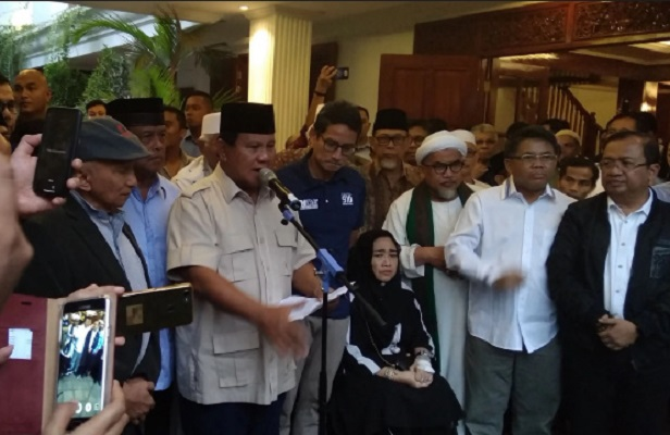 Prabowo Sandi Deklarasi Sebagai Presiden dan Wapres 2019-2024