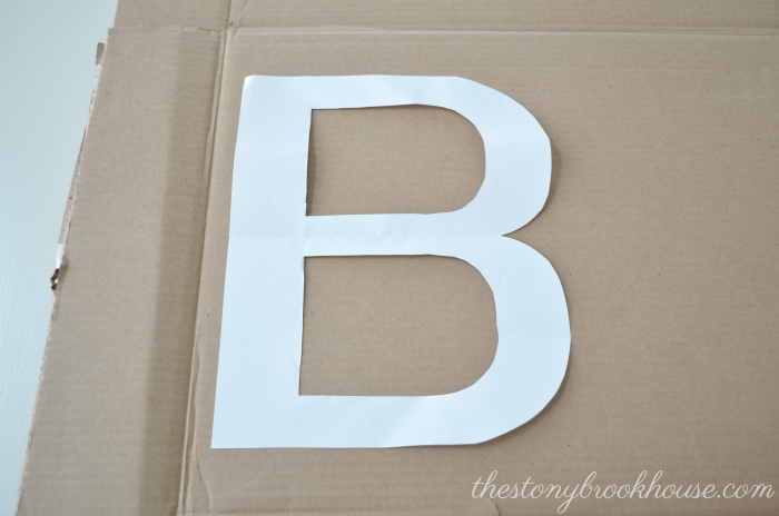 Cardboard for letter