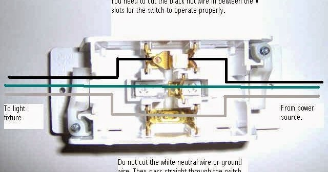 Mobile Home Repair DIY Help: Light Switch Wiring Diagram
