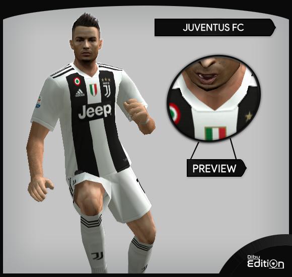 4326fe8a19a ultigamerz  PES 6 Juventus 2018-19 Full Kits-Pack v2
