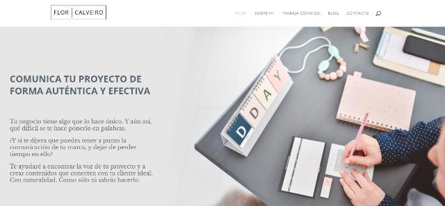 Pagina web Flor Calveiro copywriter
