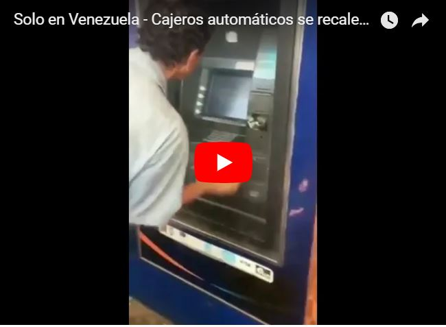 Cajeros automáticos botaron humo de tanto dinero que sacaron los venezolanos