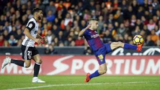 Barcelona Imbang 1-1 Lawan Valencia