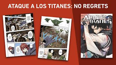 """nueva edición A COLOR de """"Ataque a los Titanes: No Regrets""""."""