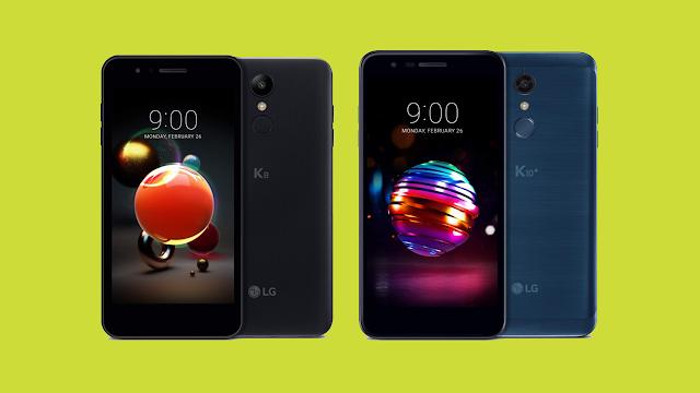 LG anunță noile LG K8 (2018) și LG K10 (2018) cu camere foto îmbunătățite și Android Nougat