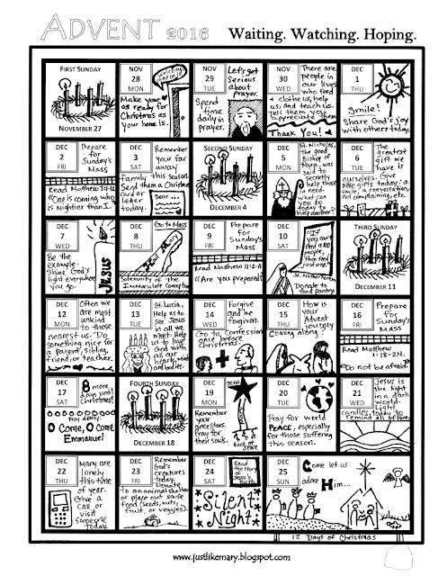 Advent Calendar Ideas Religious : Just like mary advent calendar for kids