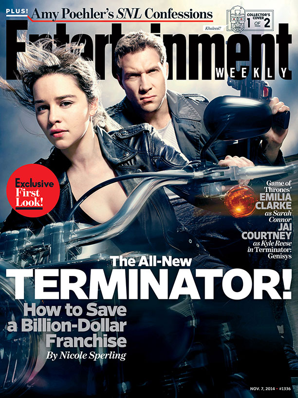 Emilia Clarke (Game Of Thrones) şi Jai Courtney (A Good Day To Die Hard) în Terminator: Genisys