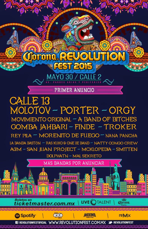 Bandas REvolution Fest 2015 Guadalajara