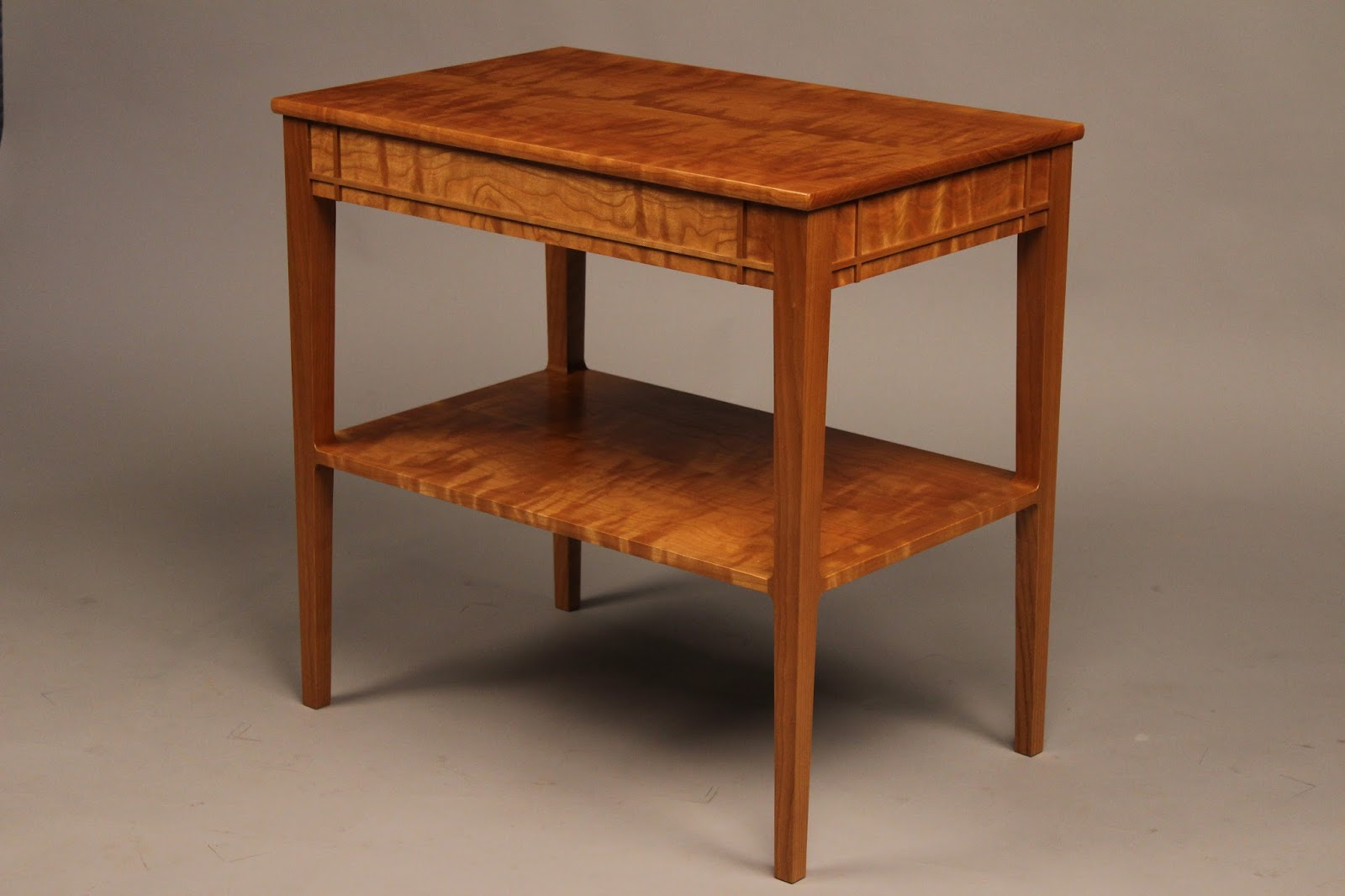 Nice Curly Cherry End Table