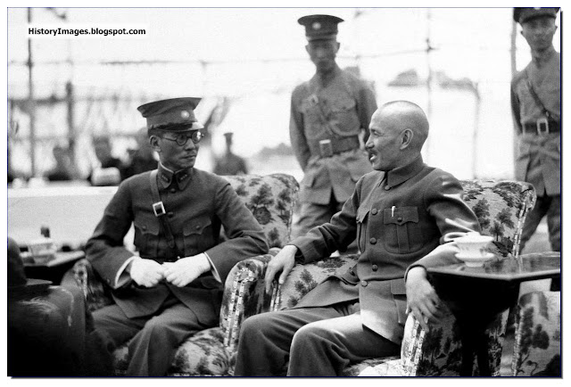 Chinese General Chiang Kai-shek  head  Nanking government in Canton, with General Lung Yun president  Yunnan provincial government