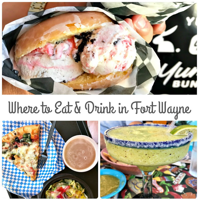 From ice cream stuffed donuts to pizza by the slice to locally brewed beer, here is Where to Eat & Drink in Fort Wayne, Indiana.