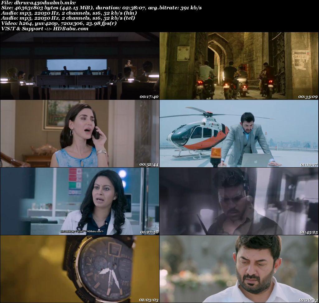 Dhruva (2017) 480p Un-Cut HDRip {Hindi - Telugu} 450 MB Screenshot