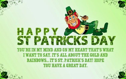 Happy Saint Patrick's Day 2016 Quotes Phrases $ Idioms, St Pat's day Greetings Messages Email