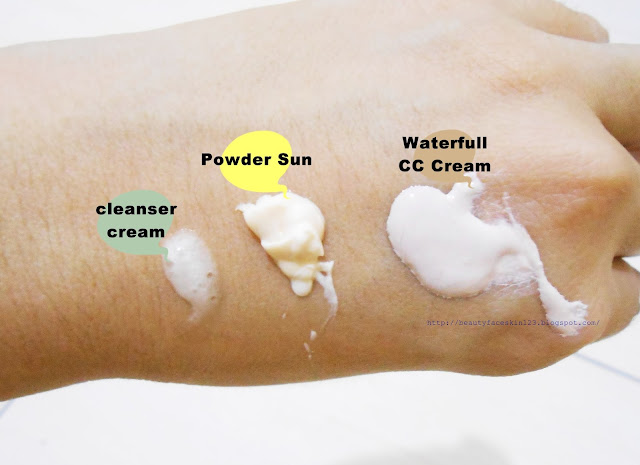 CHARMZONE SAMPLES-GINGKO NATURAL FOAM CLEANSING CREAM, ALBATROSS POWDER SUN SPF41 PA++&ALBATROSS WATERFUL CC CREAM