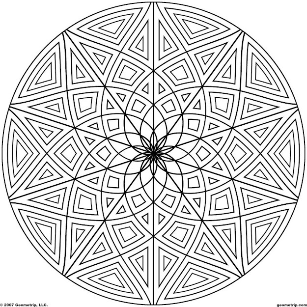 Kaleidoscope Coloring Pages  Images About Coloring On Pinterest Coloring  Coloring Books Line Drawings