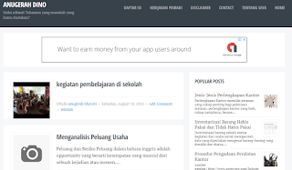 Review Blog AnugerahDino, Contoh Blogger Sukses
