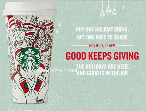 Starbucks Holiday BOGO Drinks