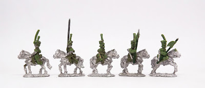 Uhlans - 3 x command / 2 x troopers: