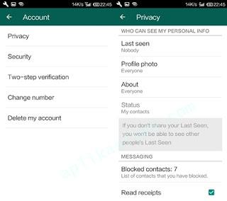 Cara Sembunyikan Fitur Last Seen WhatsApp