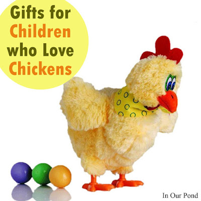 Gifts for Children Who Love Chickens from In Our Pond  #christmas  #holidays  #giftguide  #farm  #chickens