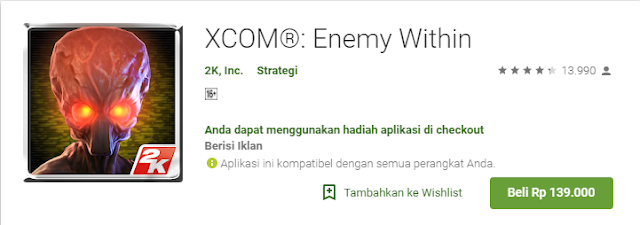 Game Strategi Android Terbaik Xcom Enemy Within