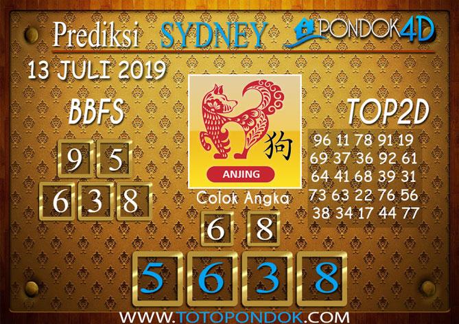 Prediksi Togel SYDNEY PONDOK4D 13 JULI 2019