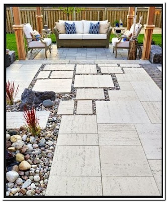 Lightweight Patio Stones Design