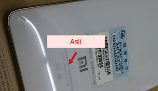 Label Cover Xiaomi Mi4 Asli