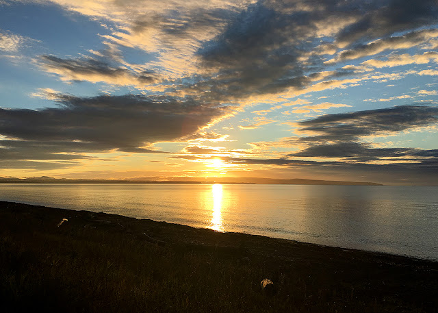 A beautiful sunrise on the Baie des Chaleurs, Quebec