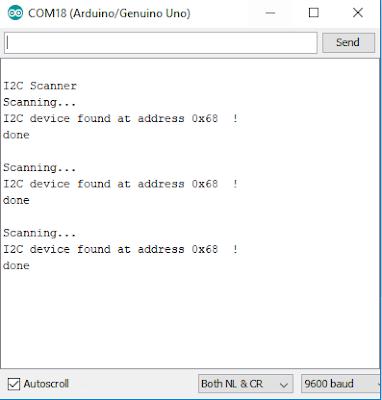 DS1307 I2C Scanner