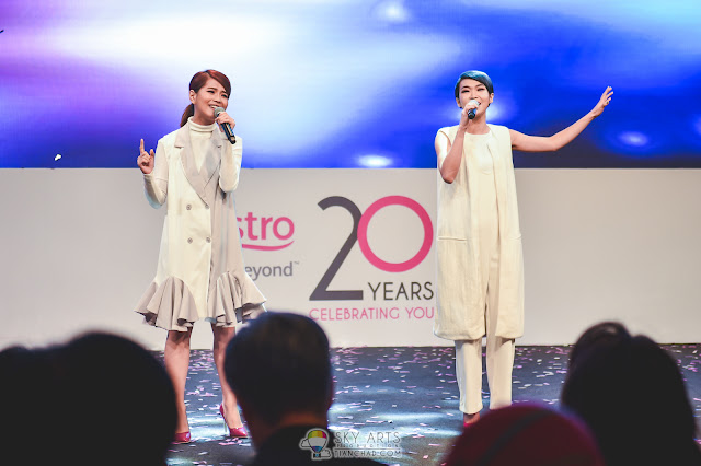 Geraldine Gan and Nicole Lai from Astro Star Quest @ Astro's 20th Anniversary Celebrations