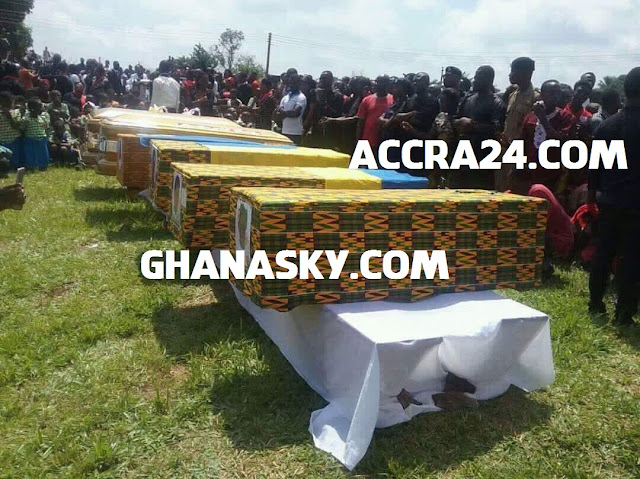 Mass Burial For 7 People Burnt To Death At Asante Mampong