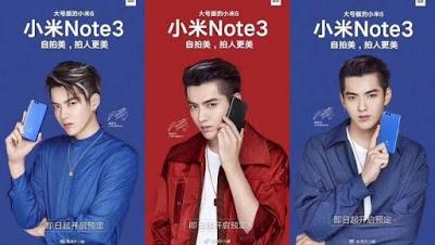 Mi Note 3 Meluncur Bareng Mi Mix 2