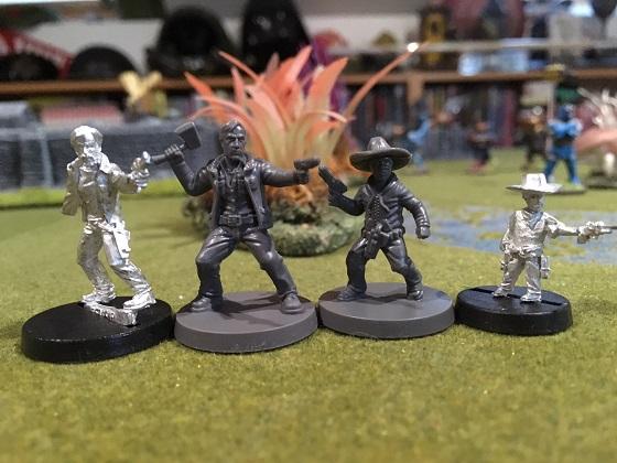 Heropress The Walking Dead All Out War Miniature Size Comparisons
