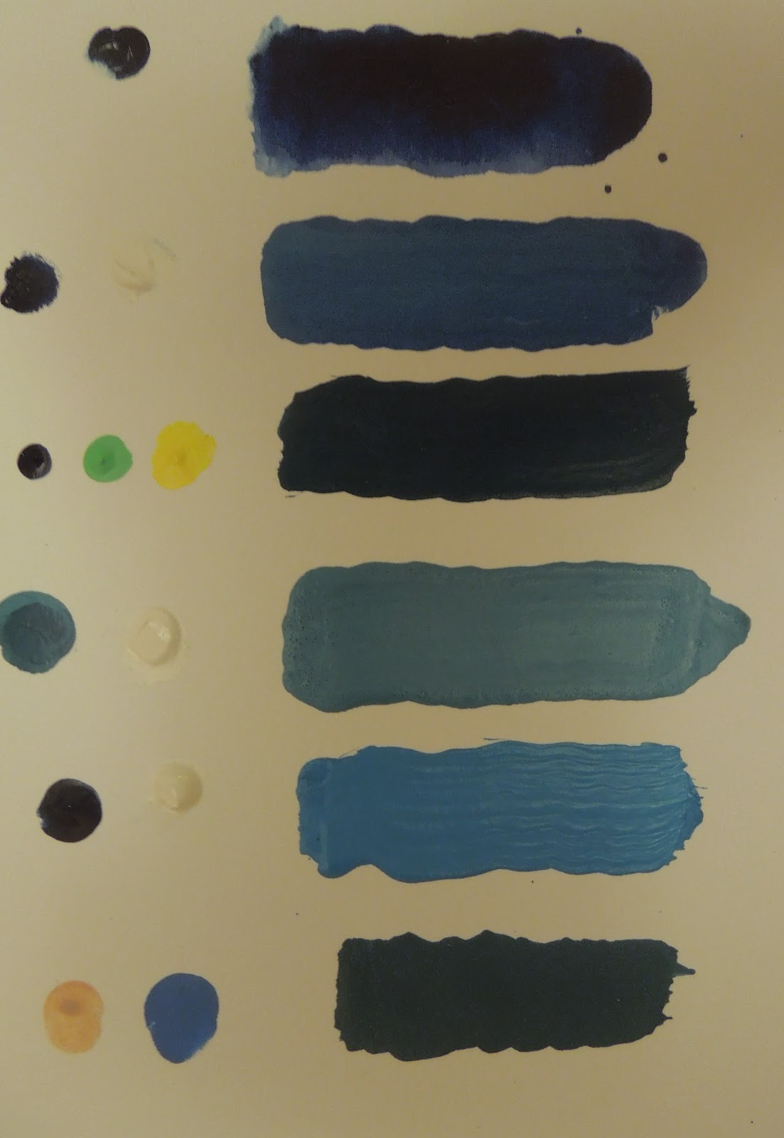 Dark Blue Is Used For Painting The Sky With Stars If You Want To Make A Sea Color By Using This Time Mix Light Green And