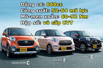 Toyota Pixis Joy có 3 phiên bản gồm C, F và S