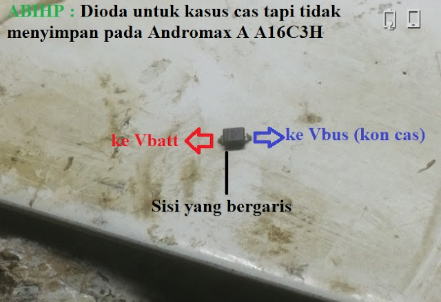 Silahkan cari dioda bekas dari tab logo D ukuran 5v.