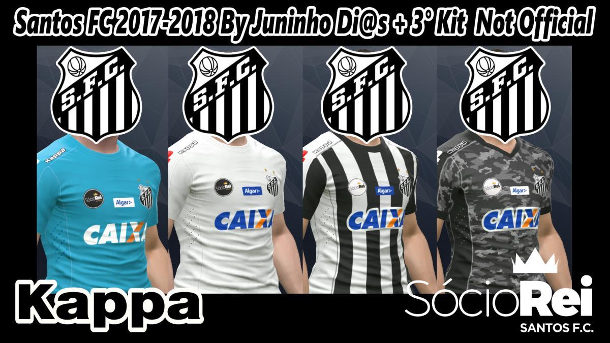 PES 2017 Santos FC 17-18 Kits By Juninho Di@s