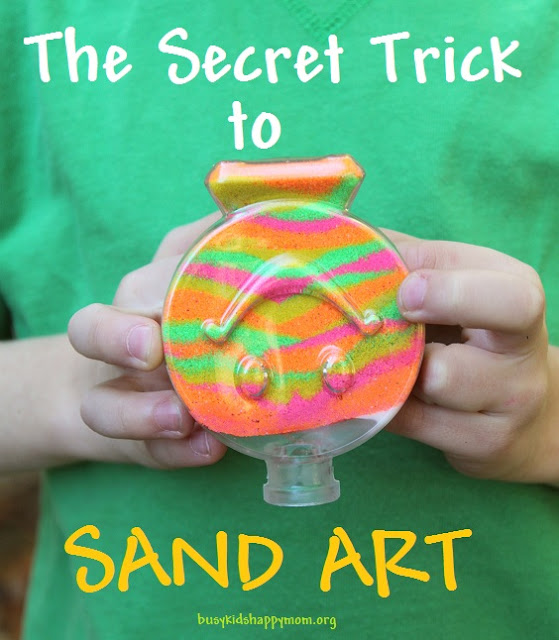 How to make your Sand Art Kid Proof from Busy Kids Happy Mom