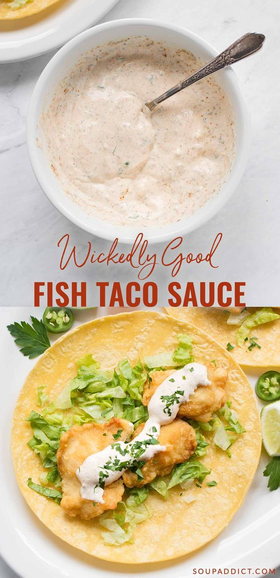 Hands down, the best fish taco sauce recipe you'll ever make, and so easy to whip up at home with your favorite herbs and spices. Learn how to make fish taco sauce and the secrets that make it so delicious!
